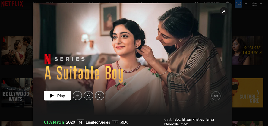Watch A Suitable Boy on Netflix 3