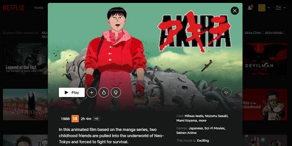 Watch Akira (1988) on Netflix 3