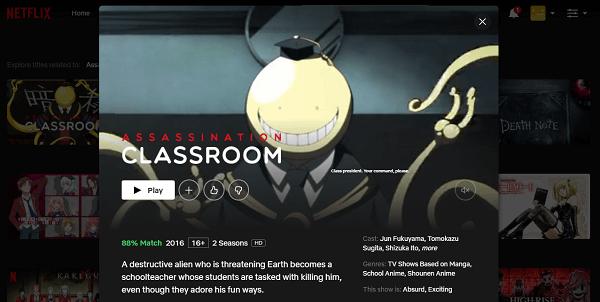 Watch Assassination Classroom on Netflix 3