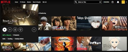 Watch Attack on Titan all 5 Seasons on NetFlix 3