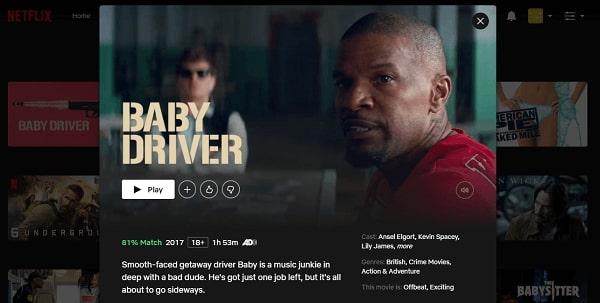 Watch Baby Driver (2015) on Netflix 3
