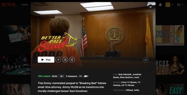 Watch Better Call Saul on Netflix 3