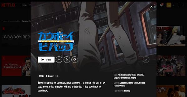 Watch Cowboy Bebop on Netflix 3