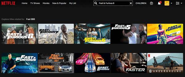 Watch Fast & Furious 8 (2017) on Netflix 2