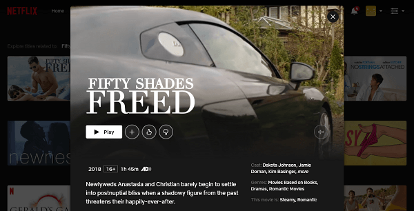 Watch Fifty Shades Freed (2018) on Netflix 3