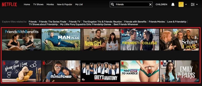 Watch Friends on Netflix 1