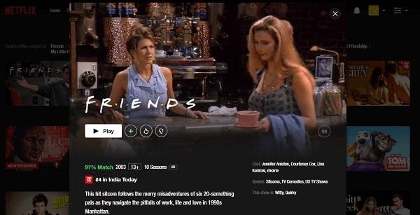Watch Friends on Netflix 3