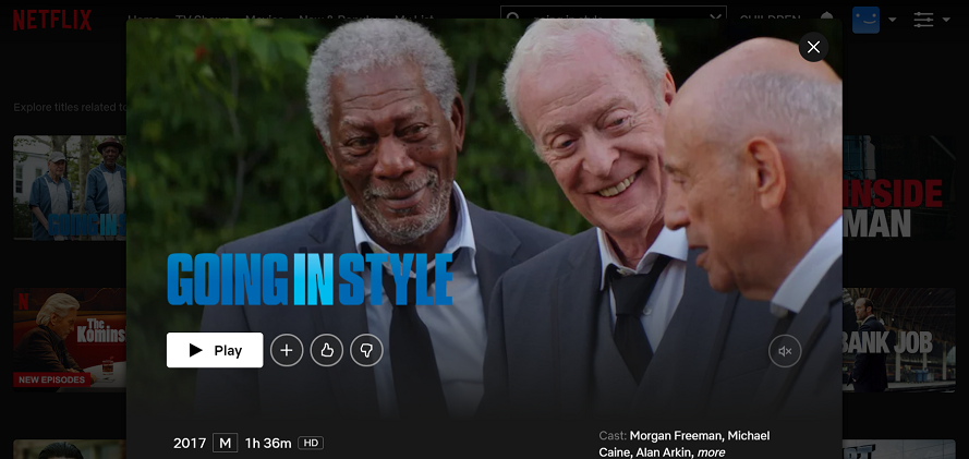 Watch Going in Style (2017) on Netflix 3