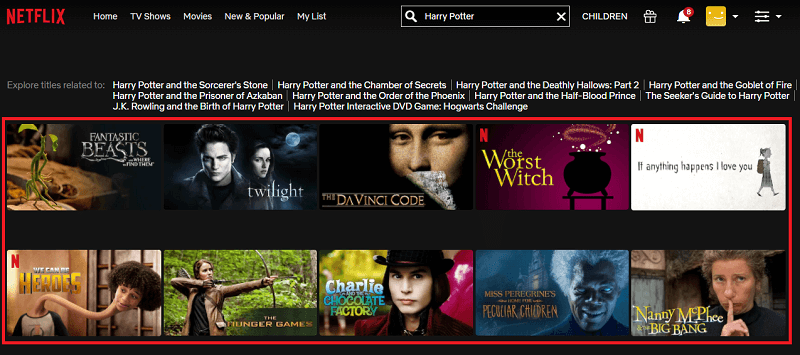 Watch Harry Potter all 8 Parts on Netflix 1