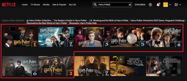 Watch Harry Potter all 8 Parts on Netflix 2