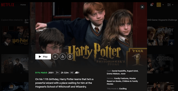 Watch Harry Potter all 8 Parts on Netflix 3