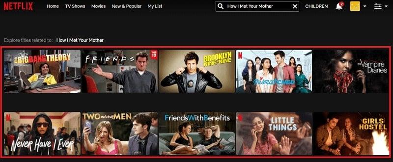 Watch How I Met Your Mother on Netflix 1