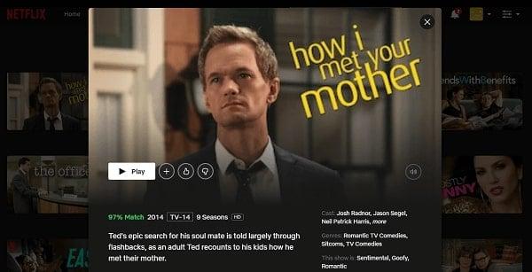 Watch How I Met Your Mother on Netflix 3