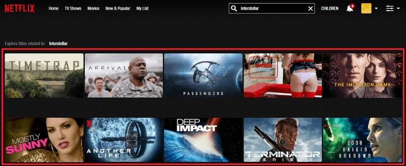 Watch Interstellar (2014) on Netflix 1