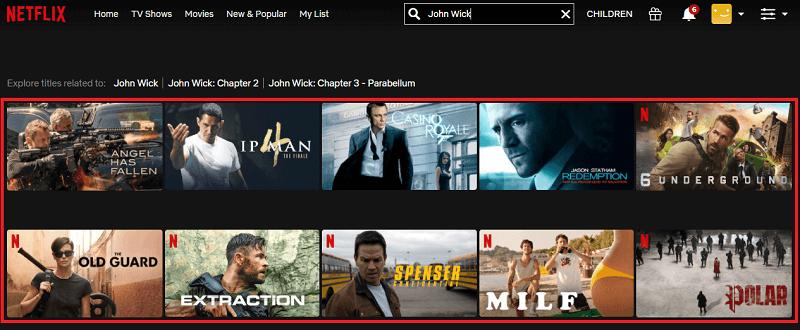 Watch John Wick (2014) on Netflix 1