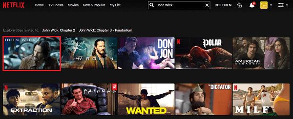 Watch John Wick (2014) on Netflix 2
