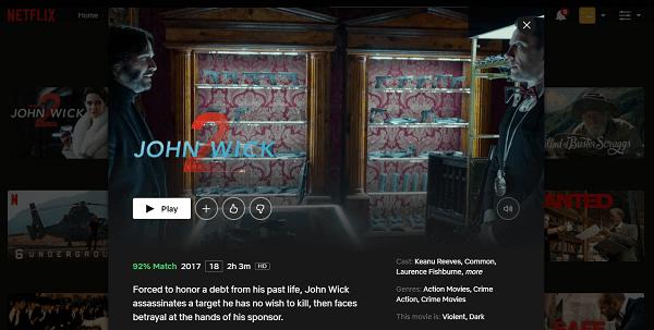 Watch John Wick - Chapter 2 (2017) on Netflix 3