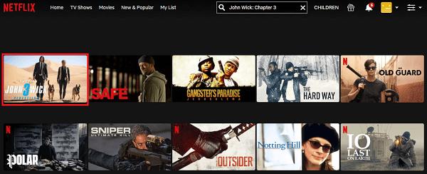 Watch John Wick - Chapter 3 (2019) on Netflix 2