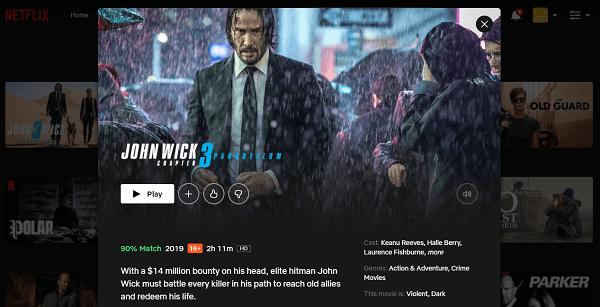 Watch John Wick - Chapter 3 (2019) on Netflix 3