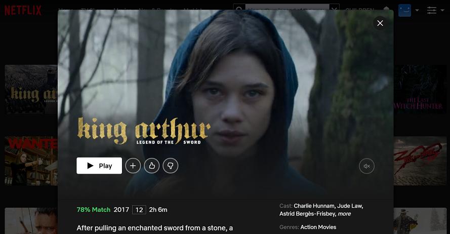 Watch King Arthur Legend of the Sword (2017) on Netflix 3