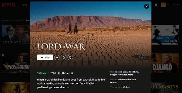 Watch Lord of War (2005) on Netflix 3
