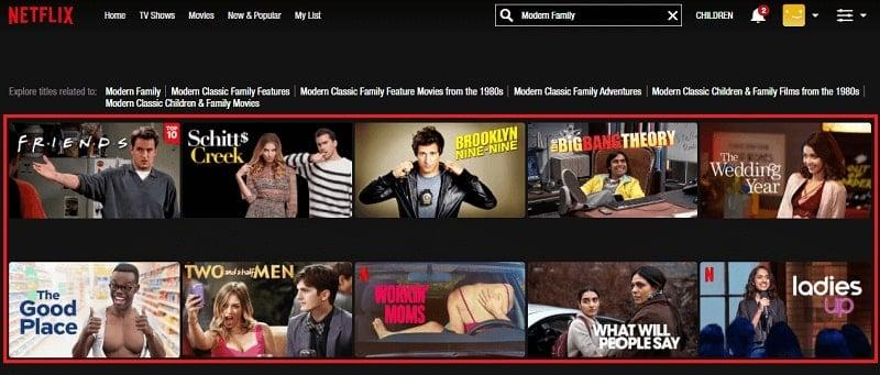 Watch Modern Family on Netflix 1
