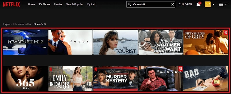 Watch Ocean's 8 (2018) on Netflix 1