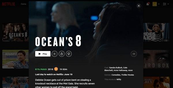 Watch Ocean's 8 (2018) on Netflix 3