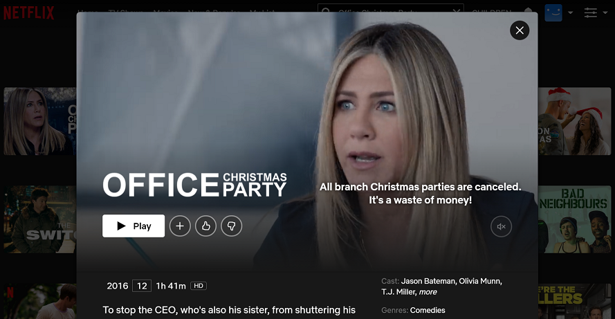 Watch Office Christmas Party (2016) on Netflix 3