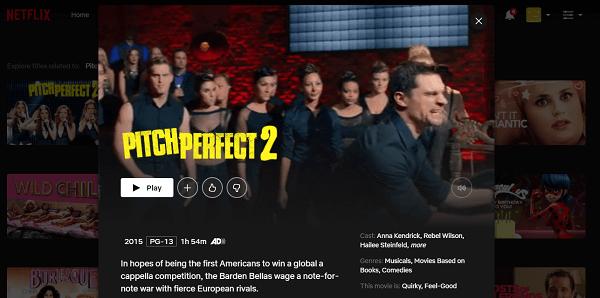 Watch Pitch Perfect 2 (2015) on Netflix 3