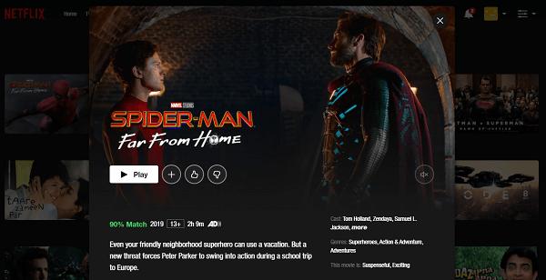 Watch Spider-Man - Far From Home (2019) on Netflix 3