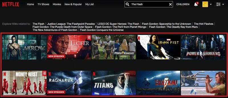 Watch The Flash on Netflix 1