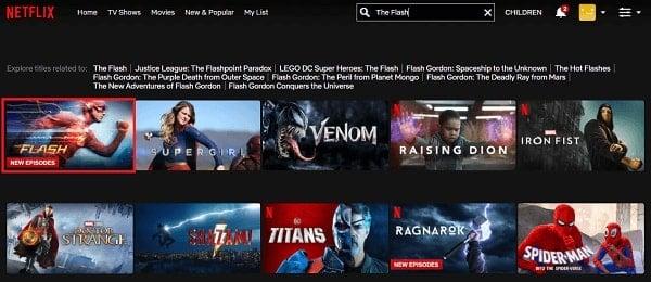 Watch The Flash on Netflix 2
