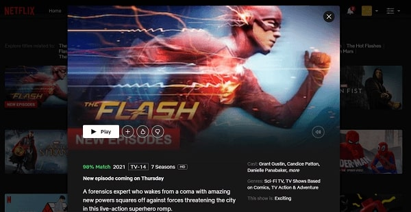 Watch The Flash on Netflix 3