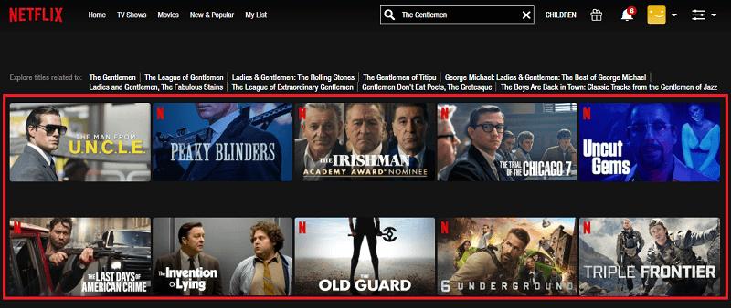 Watch The Gentlemen (2020) on Netflix 1