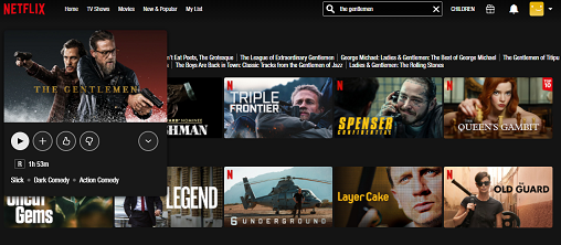 Assista The Gentlemen no Netflix 3