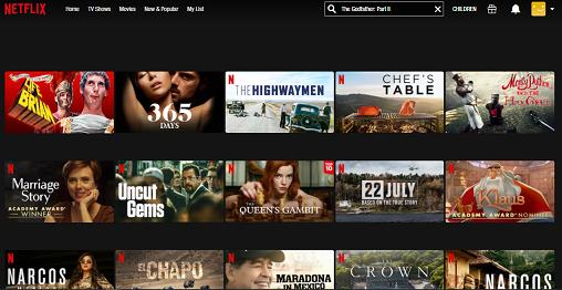 Watch The Godfather Part II on Netflix 1