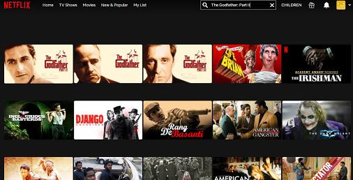 Watch The Godfather Part II on Netflix 2