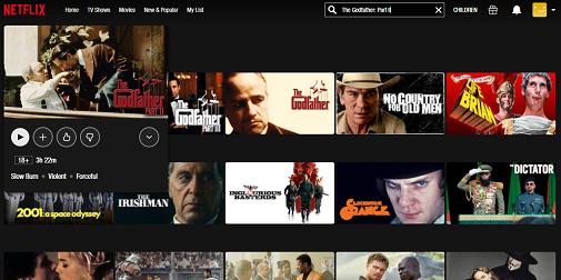 Watch The Godfather Part II on Netflix 3