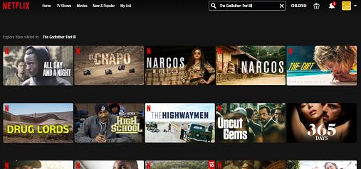 Watch The Godfather Part III on Netflix 1