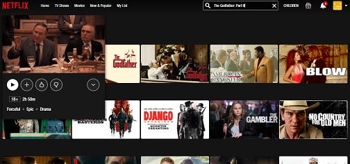 Watch The Godfather Part III on Netflix 3