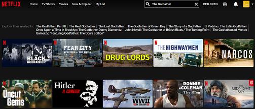 Watch The Godfather Trilogy on Netflix 1