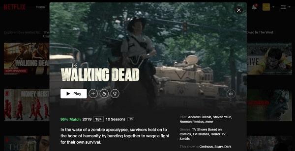 Watch The Walking Dead on Netflix 3