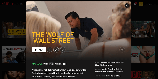 Watch The Wolf of Wall Street (2013) on Netflix 3