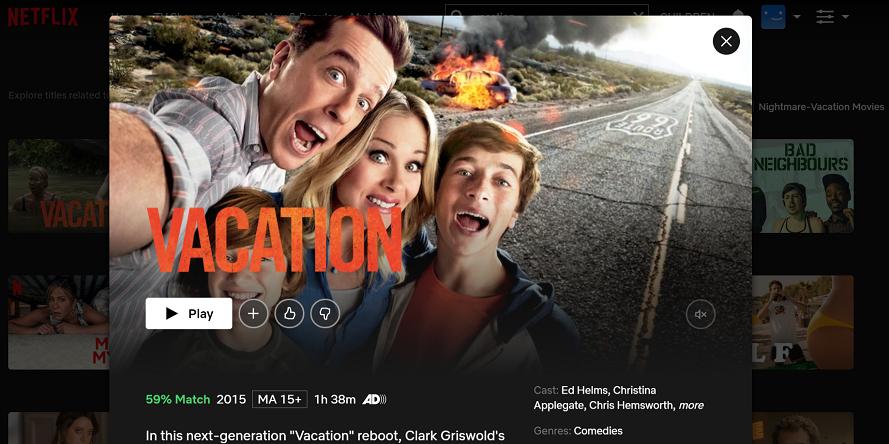 Watch Vacation (2015) on Netflix 3