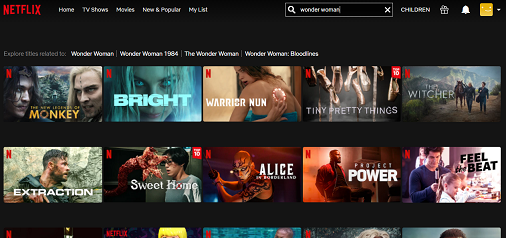 Watch Wonder Woman on Netflix 1