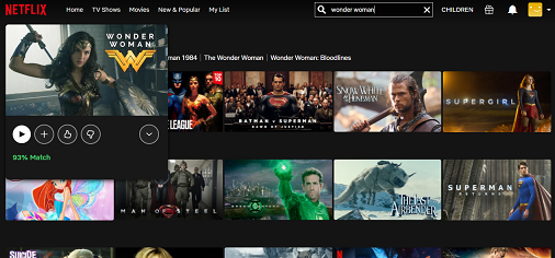 Watch Wonder Woman on Netflix 3