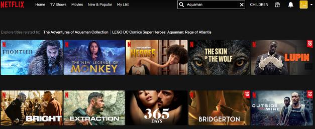 Watch Aquaman on Netflix 1