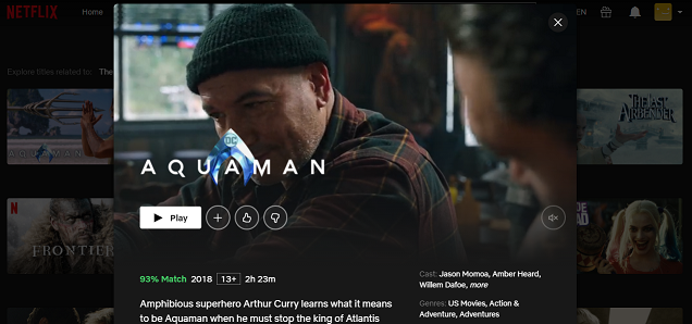 Watch Aquaman on Netflix 3