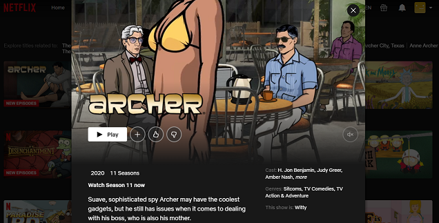 Watch Archer on Netflix 3